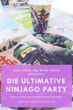 Die ultimative Ninjago Geburtstagsparty Today we had the ultimate Ninjago birthday party. Here you will find a lot of game ideas and instructions for the Ninja Academy. Lego Ninjago, Ninjago Party, Hawaiian Birthday, Troll Party, Lego Room, Diy Party, Party Ideas, Party Planning, Party Supplies
