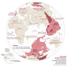 The 'Find Your Global Opposite' Map.
