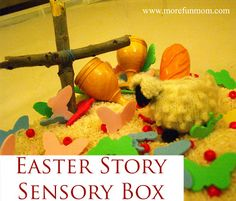 Easter Story Sensory Box from More Fun, Mom!