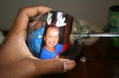 Crafty Earth Mama: DIY Glass Ball Ornaments with Picture Inside