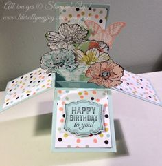 Is it Spring yet? Card in a box DIY Stampin' Up!