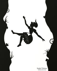 Down the Rabbit Hole Alice in Wonderland Paper Cut by italsma