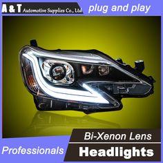 559.80$  Buy here - http://aliwb5.shopchina.info/go.php?t=32640552874 - car styling For TOYOTA REIZ headlights U angel eyes DRL 2013-2015 For TOYOTA REIZ LED light bar DRL Q5 bi xenon lens h7 xenon 559.80$ #magazineonline