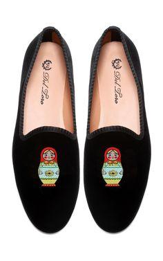 more cuties.. Del Toro Prince Albert Matryoshka Slipper Loafers at Moda Operandi
