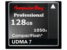 KOMPUTERBAY 128GB Professional COMPACT FLASH CARD CF 1050X WRITE 100MB/S READ 160MB/S Extreme Speed UDMA 7 RAW 128 GB