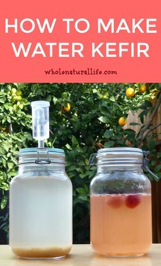 How to make water kefir Water kefir for beginners Water kefir recipes Fermented drink Fresco, How To Make Water, Digestive Detox, Kefir Recipes, Paleo Recipes, Probiotic Drinks, Body Detoxification, Lemon Diet, Liver Cleanse