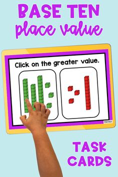 Base Ten 1-40 digital task cards - add these to your math centers for your place value unit OR display for small and whole group practice.