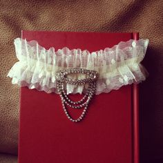 Bridal Garter Vintage Art Deco Rhinestone Jewelry by HOUSEofLOVELY. $56.00 USD, via Etsy.