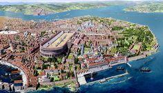 Constantinopla, la nueva Roma. Hoy se inició su construcción en el año 324 d.C.