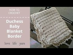 The duchess baby blanket is a free crochet pattern that uses the duchess lace stitch and a lacy edging for a sophisticated baby gift.