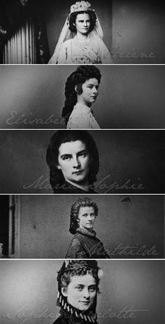 The Wittelsbach Sisters • Helene ~ Elisabeth ~ Maria Sophie ~ Mathilde ~ Sophie Charlotte •