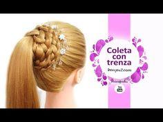 Peinados con Coletas con Trenzas Elegantes para Fiestas, Niñas Cabello Largo - YouTube