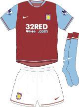 Aston Villa Football Kits Home Kit 2007-2008
