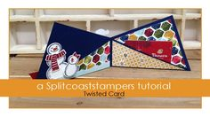 Twisted Card by KellyJean Gettelfinger A diagonal fold gives this twisted card a pocket inside for a gift card or cash gift. For step by step still pictures,...