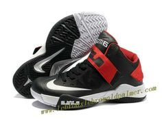 432ad519974 Nike Lebron Zoom Soldier VI Shoes Black White Red 2013