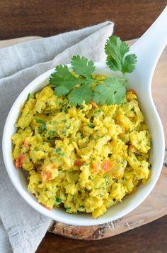 Egg Bhurji - Indian Breakfast // 20Dishes.com