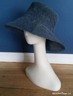 Hat made from a pair of jeans