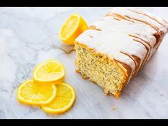 Lemon Poppy Seed Loaf Cake with Lemon Icing Glaze, perfect for your springtime baking! This loaf uses yogurt, but can also use sour cream instead!