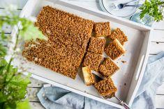 Dansk drømmekake i langpanne Bread, Baking, Food, Caramel, Bakken, Breads, Meals, Backen, Yemek