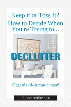 Sometimes it can be a bit difficult deciding what stays and what goes when you want to declutter your home. Here are 10 questions that will help you decide. #organizing #declutter