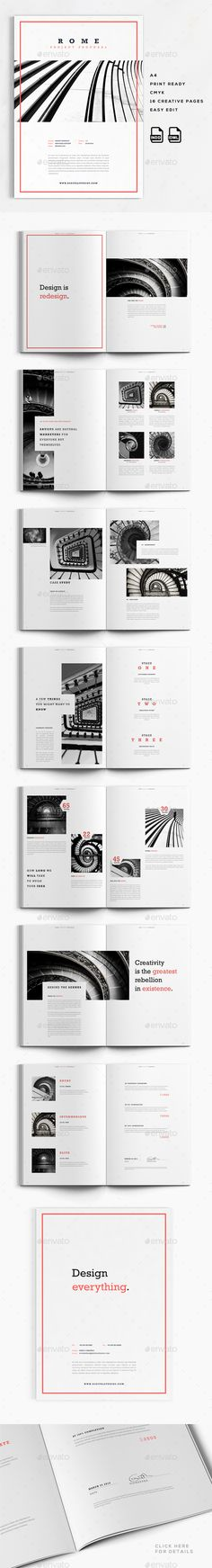 Rome | A4 Creative Business Proposal Template InDesign INDD. Download here…
