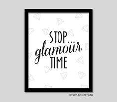 girly bathroom decor diamonds glamour art vanity art by EatSayLove