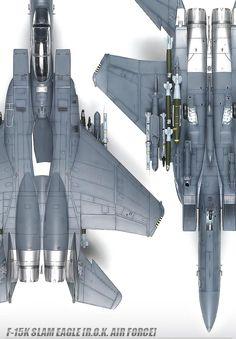 "NEW 1/48 F-15K Slam Eagle ""R.O.K. Air Force"" #12213 ACADEMY MODEL KIT Airforce"