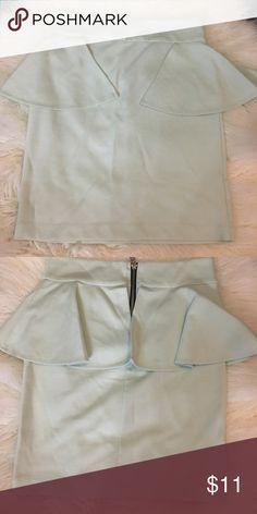Mint green peplum mini skirt Mint blue peplum skirt with zipper on the back Charlotte Russe Skirts Mini