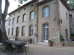 Chateau Margui, facade bastide avec table en pierre by philguillanton,
