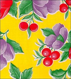"""100% Genuine Oilcloth Durable, Weatherproof, Washable. Simply Wipe Clean With Soapy Sponge! By The Yard - 47"""" wide - $10.00 By The Roll - 47"""" wide - $75.00 (12 Yards per Roll - $6.25 per Yard!)"""
