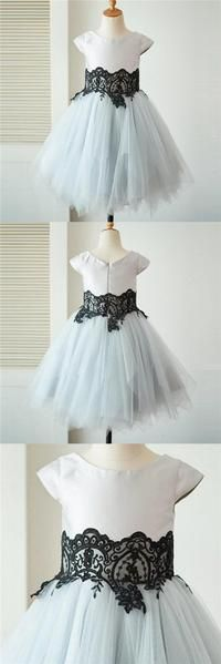 Cap Sleeves Tulle With Lace Lovely Beautiful Cheap Short Wedding Flower Girl Dresses, Cap Sleeves Tulle With Lace Lovely Beautiful Cheap Short Wedding Flower Girl Dresses, - 2019 flower girl dresses - Best wedding details Lilac Wedding, Wedding Flower Girl Dresses, Wedding Flowers, Spring Wedding, Boho Wedding, Wedding Pins, Burgundy Wedding, Flower Girls, Elegant Wedding