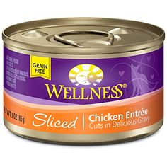 Wellness Natural Canned Grain Free Wet Cat Food Sliced Chicken 3Ounce Can Pack of 24 *** See this great product.Note:It is affiliate link to Amazon.