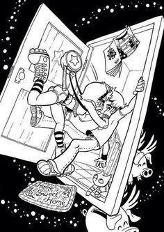 (Scott Pilgrim vs the World) Ramona Flowers/Scott Pilgrim Scott Pilgrim Comic, Bryan Lee O Malley, Brian Lee, Character Art, Character Design, Arrow Tv Shows, Ramona Flowers, Vs The World, Bd Comics