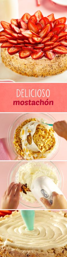 ¿No sabes qué regalarle a mamá este Día de las Madres? Prepárale este rico pastel de nueces y fresas conocido como pastel Mostachón. Un postre típico de la cocina mexicana que le va a encantar.