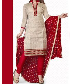 Buy Louis Vogue Beige Cotton Dress Material by undefined, on Paytm, Price: Rs.900?utm_medium=pintrest