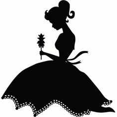 Silhouette Design Store - View Design #76635: pretty girl with flower