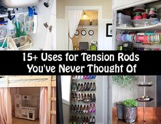 These are some pretty neat ideas on using tension rods to make your space more usable. Iespecially like the 3rd idea they share and have already begun looking for the right sized little buckets to use