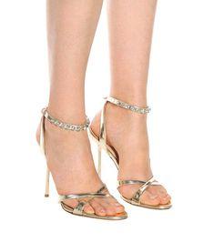 5530fbafba3d Embellished Patent Leather Sandals - Miu Miu
