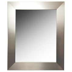 Rayne Silver Wide Wall Mirror  Versatile silver mirror perfect for expanding your space with style. @Wayfair.com Modern Mirror Wall, Lighted Bathroom Mirror, Furniture, Modern, Home Decor, Silver Mirrors, Mirror