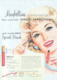Vintage Makeup Ad  #benefitglam