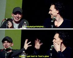 Don't worry Chris, that's normal. x) <-- Tom's face I'm the second one. Awwwwwww!!!! He so precious!!!!