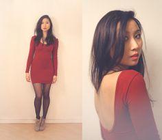 Zara Boots, American Apparel Dress