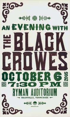 The Black Crowes Ryman October 6 2005