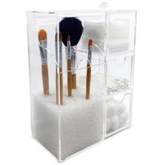 Ikee Design Acrylic Makeup Brush Holder & Cosmetic Organizer  | Overstock.com Shopping - The Best Deals on Makeup Cases
