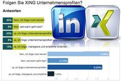 #XING and #LinkedIn Unternehmensprofilennutzung / Companyprofileusage