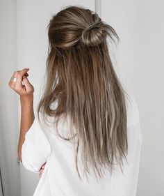 half up half down hairstyles tumblr - Google Search