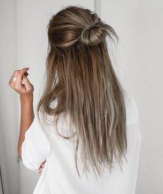 half up half down hairstyles tumblr - Google Search