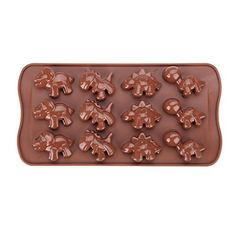 KookieMonsta Dinosaur Silicone Candy Molds Ice Cube Tray 3d Chocolate Molds >>> Click image for more details.