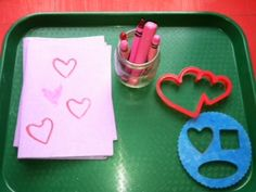 Toddler Valentine's card making