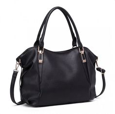 Large black soft faux leather slouchy tote hobo bag Zip fastening to the top The bag is fully lined inside and has internal pockets and a detachable Marimo, Laura Biagiotti, Black Tote, Large Bags, Furla, Hobo Bag, Shoulder Handbags, Designing Women, Moschino